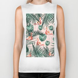 Tropical Flamingo Pattern #2 #tropical #decor #art #society6 Biker Tank