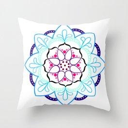 Mandala I - Colour Outline I Throw Pillow