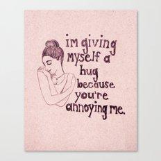 Self Hug Canvas Print