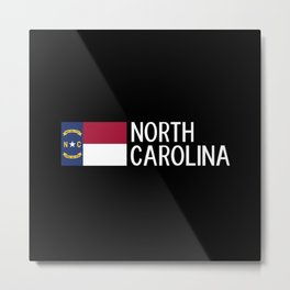North Carolina: North Carolinian Flag Metal Print