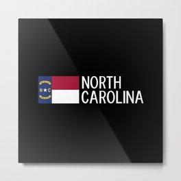 North Carolina: North Carolinian Flag Metal Print