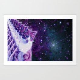Galaxy Catz Art Print