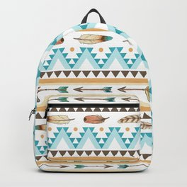 Southwest Feathers and Arrows - tribal pattern Backpack