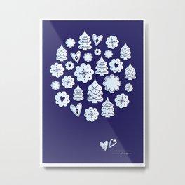 Blue christmas decoration Metal Print