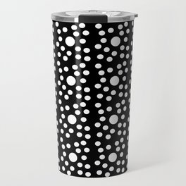 new polka dot 6 -black and white Travel Mug