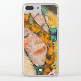 Sleeping woman - Gustav Klimt Clear iPhone Case