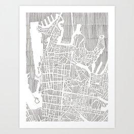 sydney city print Art Print