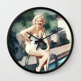 Jean Harlow, Actress Wall Clock