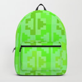 Geometric Aztec Zig-Zag Pattern - Green Backpack