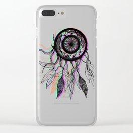 Modern Artistic Native American Dreamcatcher Clear iPhone Case