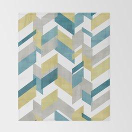 Bright geometrical pattern Throw Blanket