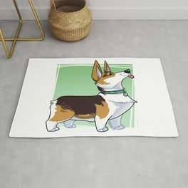 Lizbeth the Corgi Caricature Rug