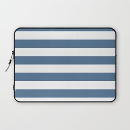 Blue and White Stripes Laptop Sleeve