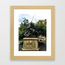 St George & The Dragon Framed Art Print