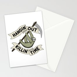 Hangin' Out Sloth Shirt Stationery Cards