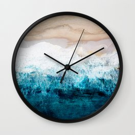 Watercolour Summer beach III Wall Clock