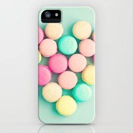Macarons, macaroons heart II, pop art iPhone Case