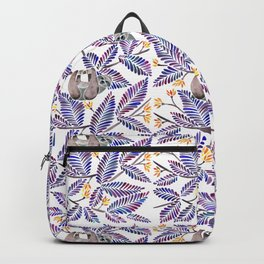 Happy Sloth – Tropical Indigo Leaves Backpack