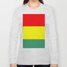 flag of bolivia 3 -bolivian,boliviano,bolivian,Sucre, La Paz. Long Sleeve T-shirt