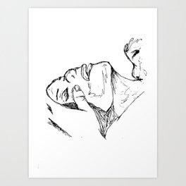 Neck weakness Art Print