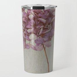 Beautiful Vintage Hydrangea Travel Mug