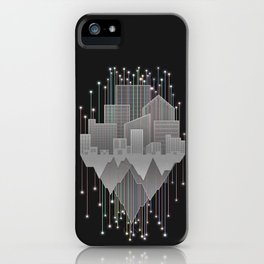 Mountains And Stars Under The City iPhone Case
