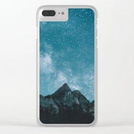 Blue Mountains Blue Sky - Landscape Photography Clear iPhone Case