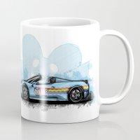 deadmau5 Mugs featuring Deadmau5's Purrari 458 Spider by an.artwrok