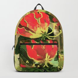 Gloriosa rothschildiana Backpack