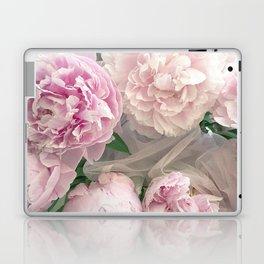 Shabby Chic Pastel Pink Peonies Wall Art - Peonies Home Decor Laptop & iPad Skin