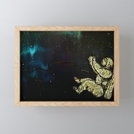 Astronaut afloat(Spaced) Framed Mini Art Print