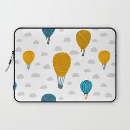 Cute hot air balloon scandinavian style hand drawn illustration pattern Laptop Sleeve