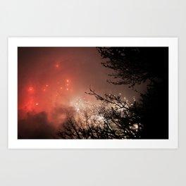 Glowing sky Art Print