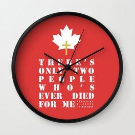 Soldiers & Jesus Wall Clock