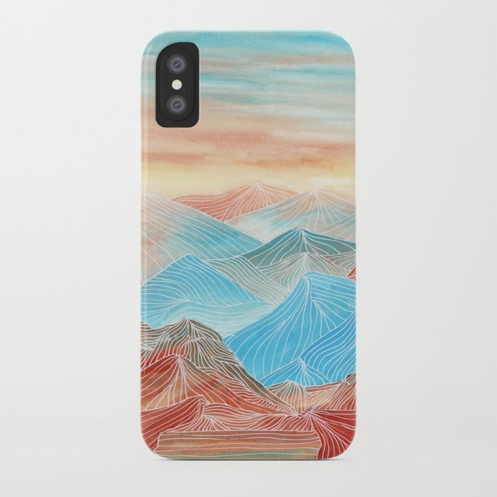 Lines in the mountains XX iPhone Case