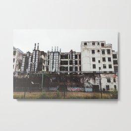 Factory Town Metal Print
