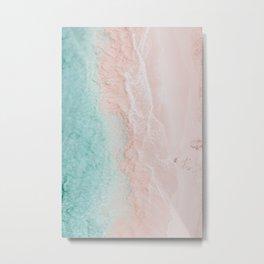 pink sands ii / elbow beach, bermuda Metal Print