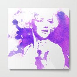 Marilyn Watercolor II Metal Print