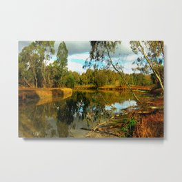 Dusk over a Swamp Metal Print