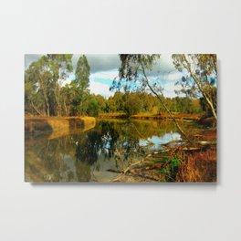 Dusk over a Swamp Metal Print