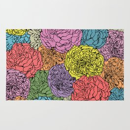 LONG LIVE THE SPRING! (abstract tropical flowers) Rug