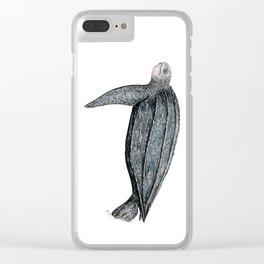 Leatherback turtle (Dermochelys coriacea) Clear iPhone Case