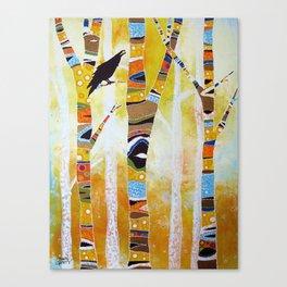 Raven Hanging the Sun Canvas Print