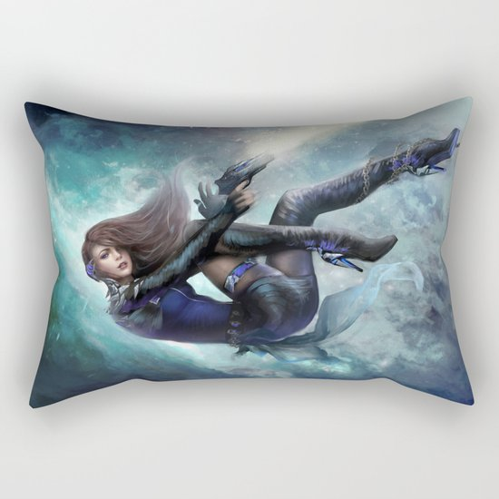 Espionage 101 - Futuristic sci-fi girl spy Rectangular Pillow