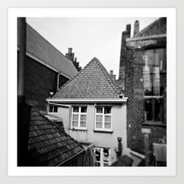 · My home...· Analogical Photography Black & White Art Print
