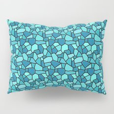 Stained Glass Blue Pillow Sham