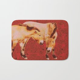 Ancient Horses Bath Mat
