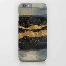 GOLD VEIN Abstract Watercolor Art Nr. 2 iPhone Case