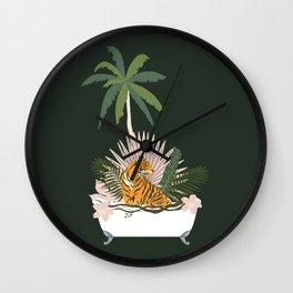 Jungle Spa Wall Clock