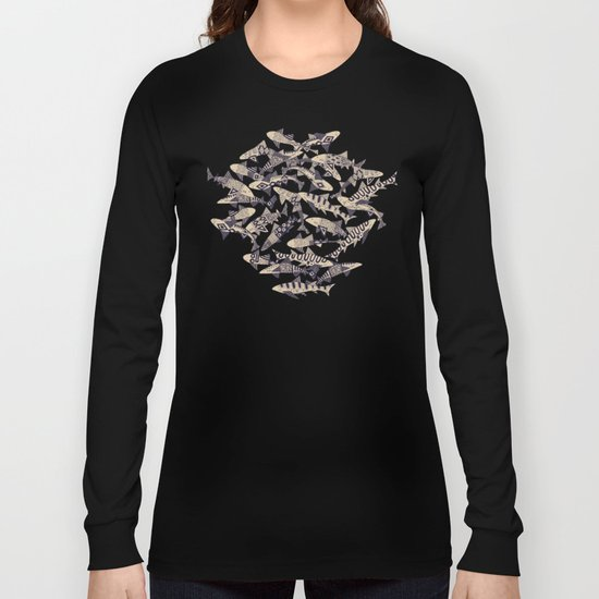 shark party red Long Sleeve T-shirt